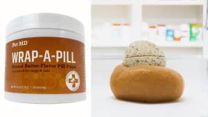 peanut butter-flavored pill paste to help mask the taste and smell of pet medication