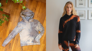 tie-dye loungewear made from sustainably produced yarn