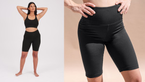 bike shorts made from recycled plastic
