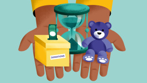 Donation box, Time, Toy