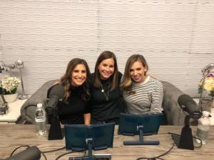 hosts on the couch with Rebecca Jarvis