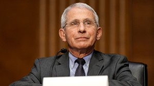 Dr. Anthony Fauci speaks during a Senate hearing on May 11, 2021 at the US Capitol in Washington, DC.