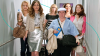 """Bridesmaids"" flight boarding"