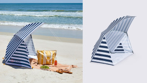umbrella tent for shade while outside