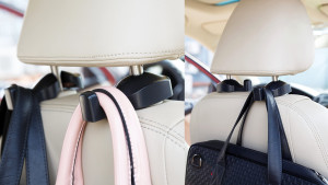 car hook for your handbag so it hangs from the headrest