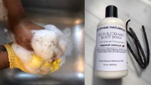 french vanilla body wash