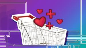 Shopping Cart Giving Illustration