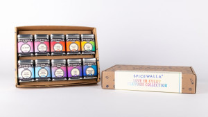 spice collection with rainbow labels