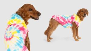 tie-dye hoodie sweatshirt for dogs
