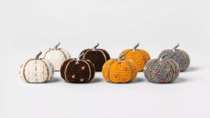 tweed decor mini pumpkins