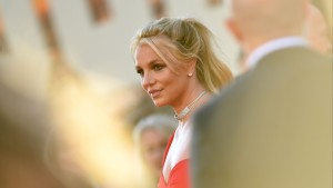 US singer Britney Spears arrives a movie premiere in Hollywood, California.