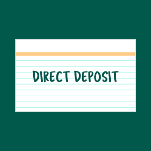Direct Deposit index card