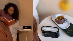 phone-compatible alarm clock that is also a noise machine and night light