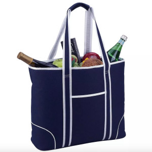 insulated cooler tote for food and drinks
