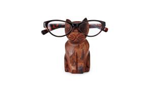 Wooden reading glasses holder