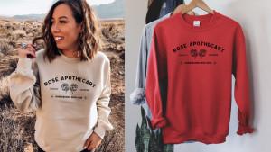 A Rose Apothecary sweatshirt