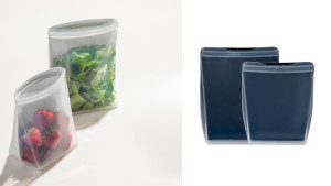 silicone food storage bags that can stand up in the fridge