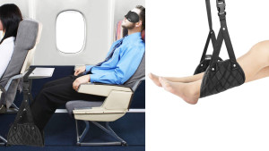 A portable foot hammock