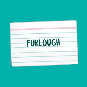 furlough definition flash card