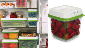 produce saving containers that help regulate air flow to keep produce fresher for longer