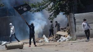 Terrorist attacks cause smoke
