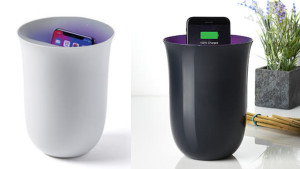 wireless charging cup that is also a uv sanitizer