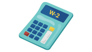 Calculator with W-2