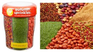 autumn-themed sprinkles