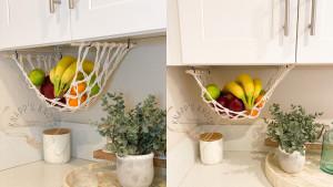 under-cabinet fruit and veggie hammock