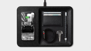 charging pad with a place for essential items