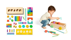multi-colored block set in different shapes
