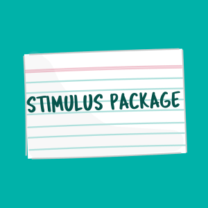stimulus package flash card