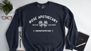 rose apothecary sweatshirt from schitt's creek
