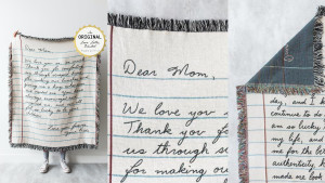 custom love letter blanket you can personalize to your own handwriting