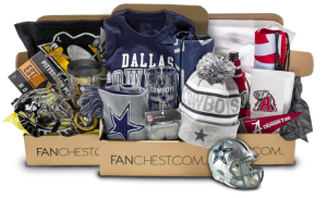 Fanchest samples with sports gear