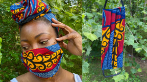 patterned cloth cotton face mask