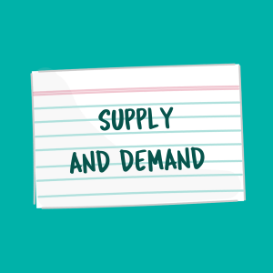 Supply and Demand card