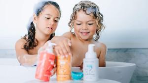 tear-free shampoo, body wash, and bubble bath for kids