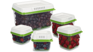 produce savers that regulate air flow and keep fruit and veggies fresh for longer