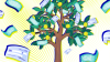 How to paycheck yourself_face the future money tree with dollar bills falling