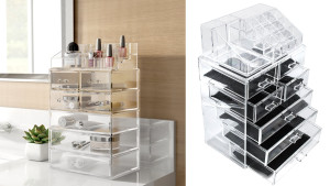 clear tiered makeup organizer
