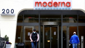 A view of Moderna headquarters on May 08, 2020 in Cambridge, Massachusetts