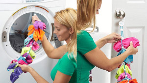 sock organizer to help during washing, will pair socks and keep them together in the washing machine