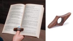 Walnut book holder