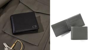 slim leather men's wallet in various colors