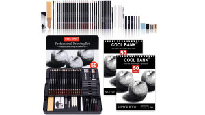 sketching set with drawing pad and pencil set