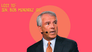 Lost to: Sen. Bob Menendez (D)