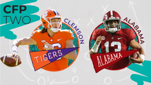 TheSkimm x ESPN CFP - Alabama and Clemson
