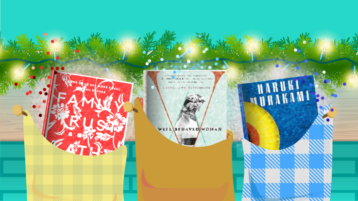 Holiday Reads in stockings