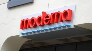 The Moderna headquarters is seen on November 30, 2020 in Cambridge, Massachusetts.